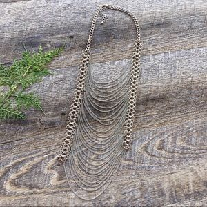 • 5 for $25• Buckle Silver Layered Chain Necklace